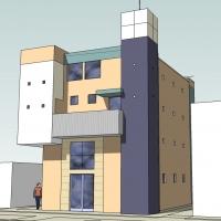 X lofts Exterior 3D