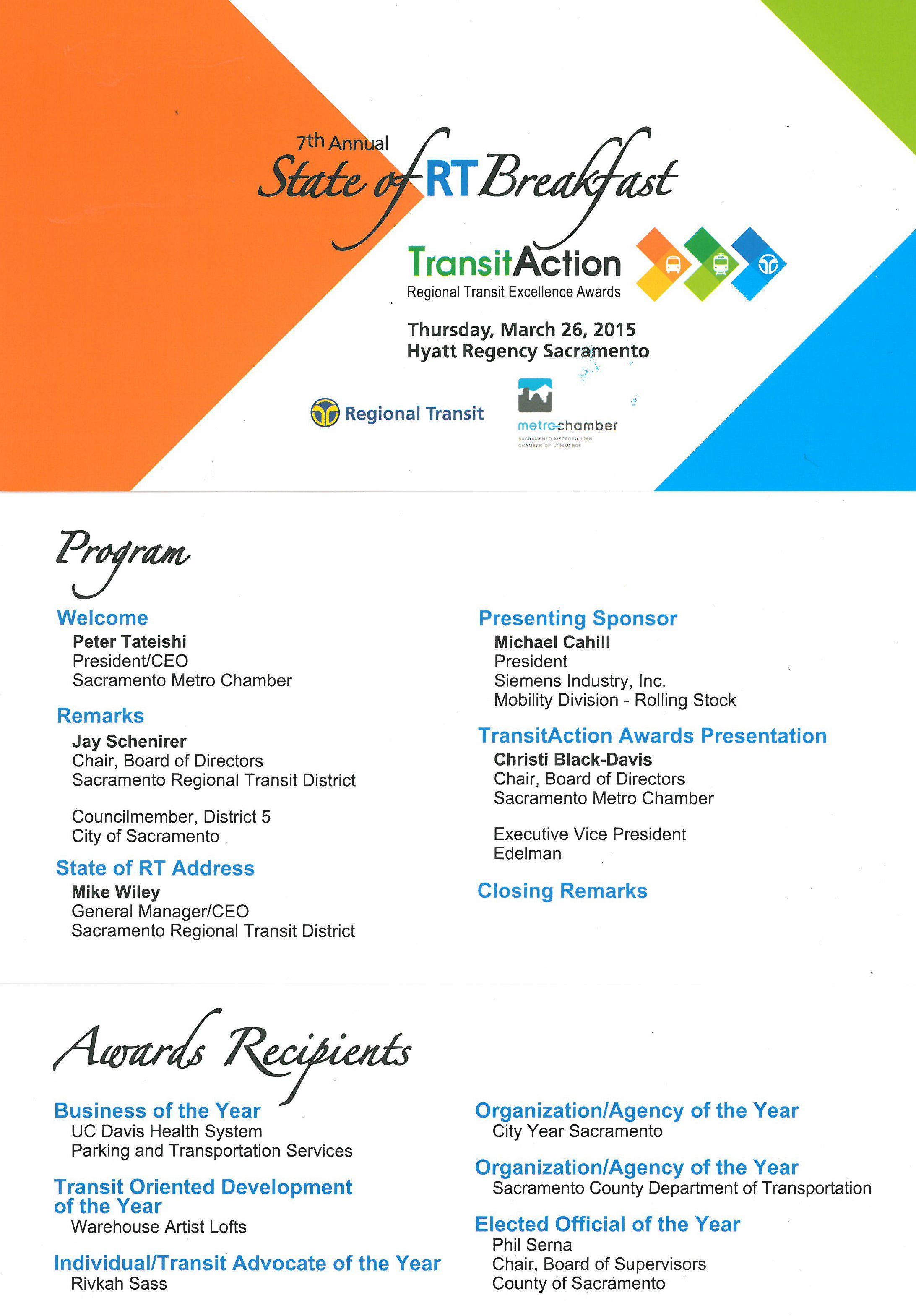 Regional Transit Excellence Award