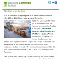 WAL is Finalist in ULI